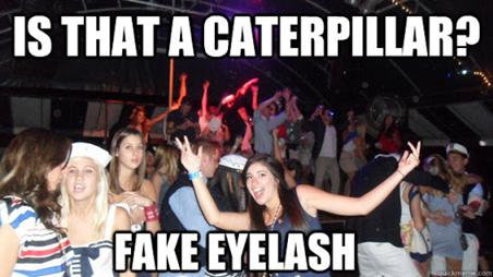 Fake eyelash fail
