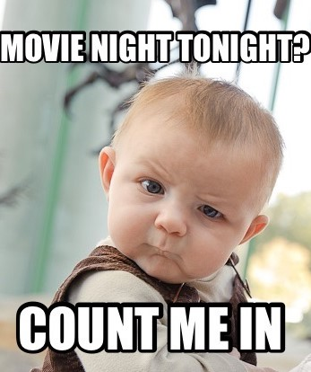 Movie Night with BFFs count me in