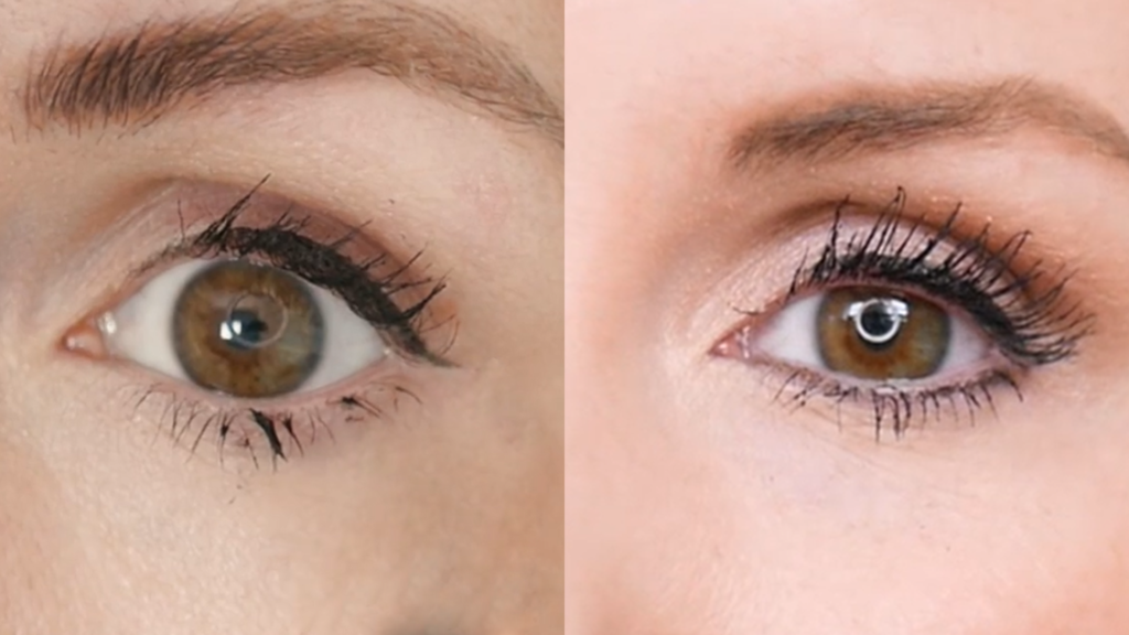 mascara application difference